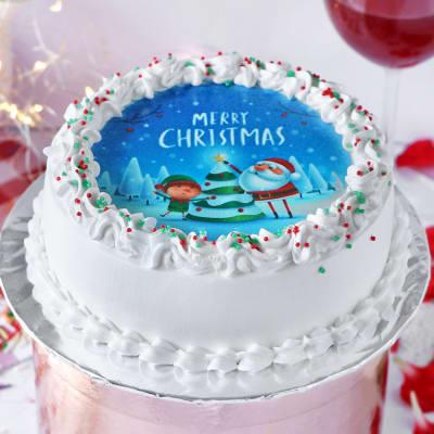 Christmas Photo Cake (Half kg)