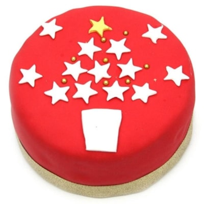 Christmas Star 6 inches Cake