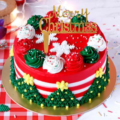 Christmas Theme Truffle Cake