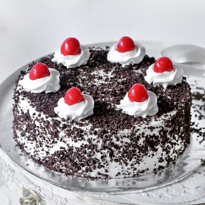 Classic Black Forest Cake (Eggless) (2 Kg)