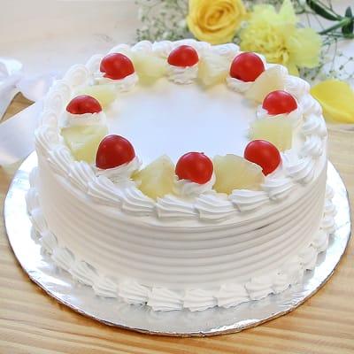 Classic Pineapple Cake (Eggless) (Half Kg)
