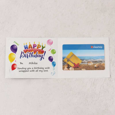 Cleartrip 1000 Inr Personalized Birthday Gift Card Giftsend