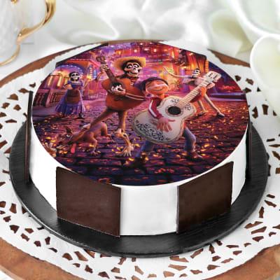 Coco Photo Cake (Half Kg)