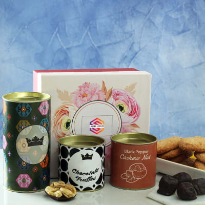 Coconut Cookies with Dark Chocolates & Cashew Nuts - Customized with Logo