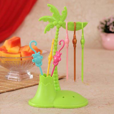 Coconut Tree Monkey Fruit Fork Set