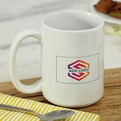 Coffee Mug (350ml) - Customized with Logo and Message