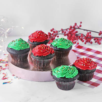 Colorful Chocolate Cupcakes (Set of 6)