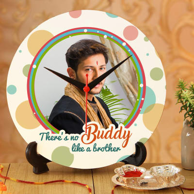 Colorful Personalized Clock with Roli Chawal