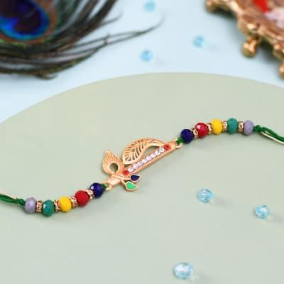 Colourful Beads Flute Rakhi