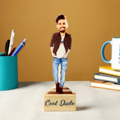 Cool Dude Personalized Caricature