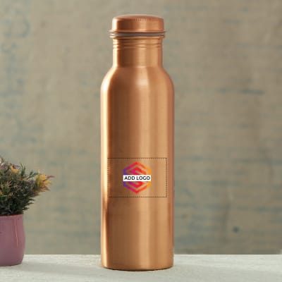 Copper Bottle With Logo Customisation