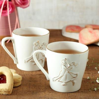 Couple Dancing Print Ceramic Mug (Set of 2)