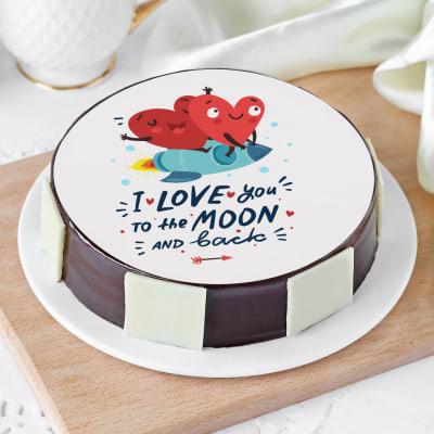 Couple Hearts Cake (Half Kg)