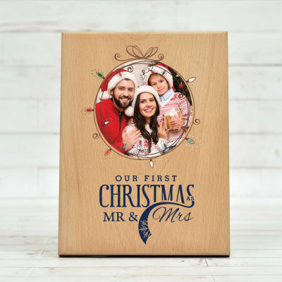 Couple Special Personalized Wooden Frame for Christmas