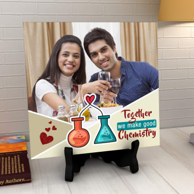 Crackling Chemistry Personalized Tile