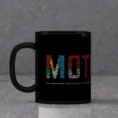 Customized Black Mug