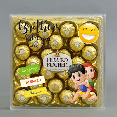 Customized Brother Special 24 Pcs Ferrero Rocher Chocolates