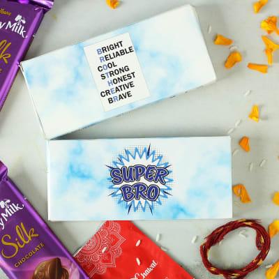 Customized Chocolate Box with Roli Chawal for Bhai Dooj