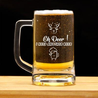 Customized Christmas Beer Mug