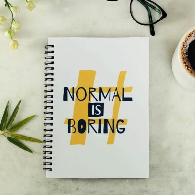 Customized Notebook Normal is Boring