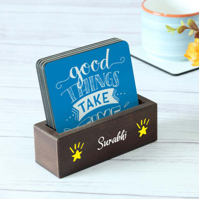 Customized Positive Quotes  Coasters - Set of 4