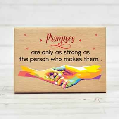 Customized Promises Wooden Plaque