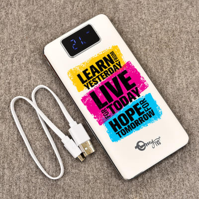 Customized Turbo Power Bank 10000 mAh with Inspiring Quote