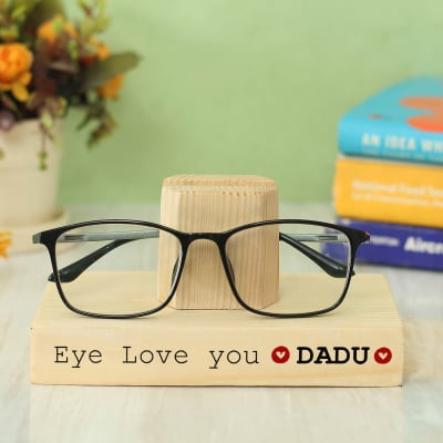 Customized Wooden Eyeglasses Stand for Grandfather
