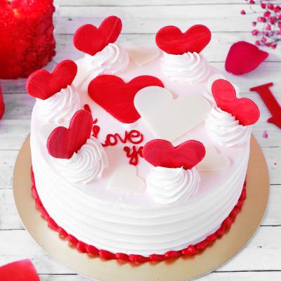 Cute Hearts Special Vanilla Cake (Half Kg)