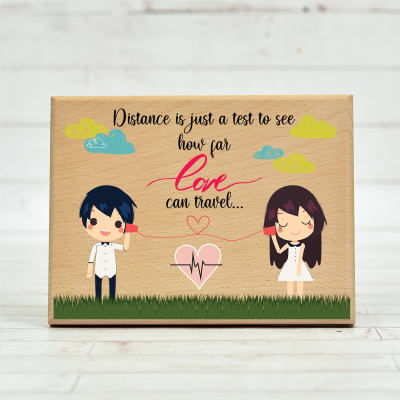 Cute Love Quote Special Customized Wooden Frame