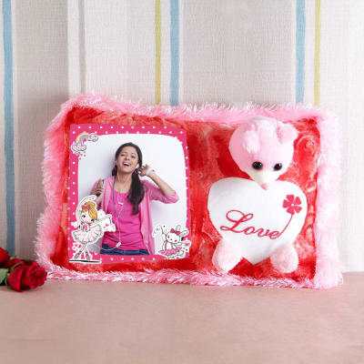 Cute Personalized Teddy Cushion