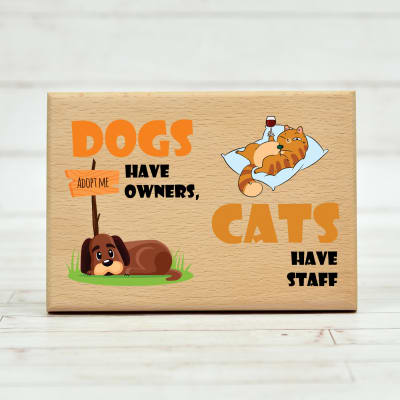 Cute Pet Lover Wooden Photo Frame