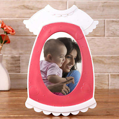Personalized baby shower gifts online send personalized gifts to cute pink personalized photo frame negle Images