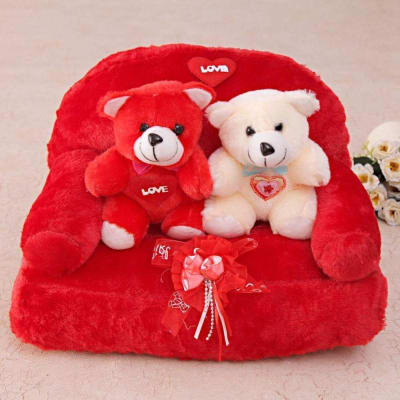 cute red white teddy bears for your loved one gift send toys and