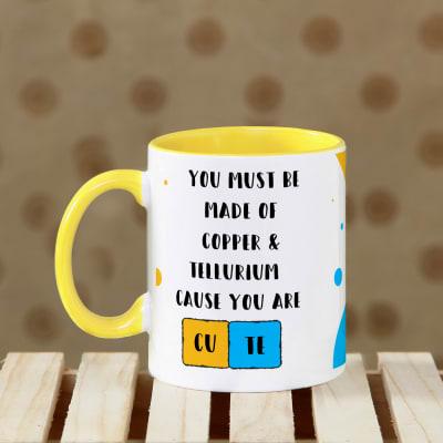 Cute Yellow Handle Personalized Mug