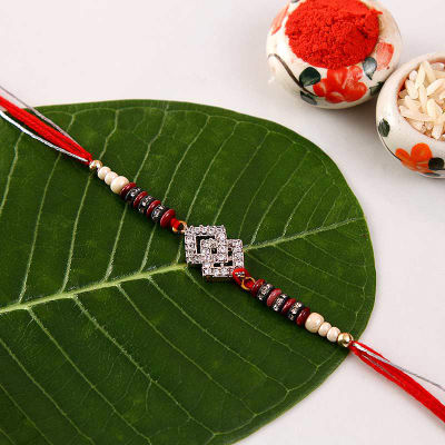 Send gifts to uk from india best gifts to london free gift cz stone premium rakhi negle Images