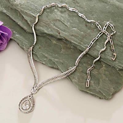 CZ Stone Studded Semi Precious Necklace