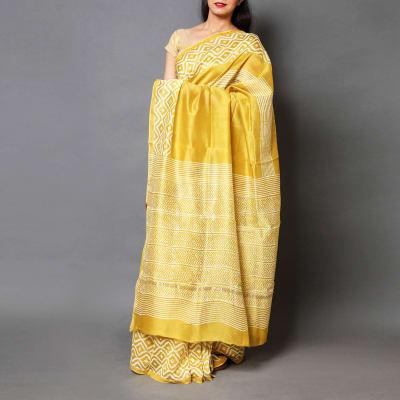Dabu Print Chanderi Silk