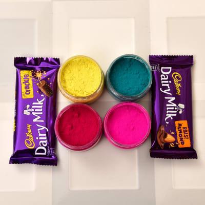 Dairy Milk Chocolates with Assorted Holi Gulal