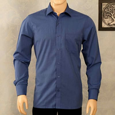 Dark Blue Formal Shirt For Men By Peter England