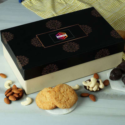 Dark Chocolates with Coconut Cookies & Dry Fruits - Customized with Logo