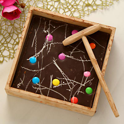 Easter gifts online buy send easter baskets presents for kids dark gem chocolate bar with hammer negle Images