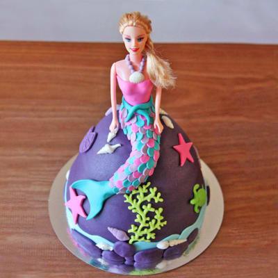 De Barbie Princess Fondant Cake (3 Kg)
