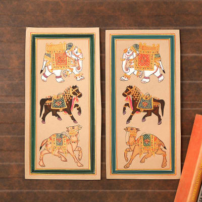 Decorated Glory Cardboard Painting