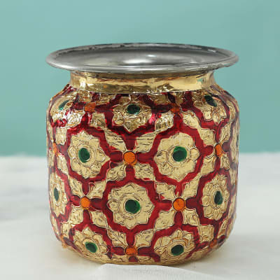Decorative Karwa with Rajasthani Meena Work