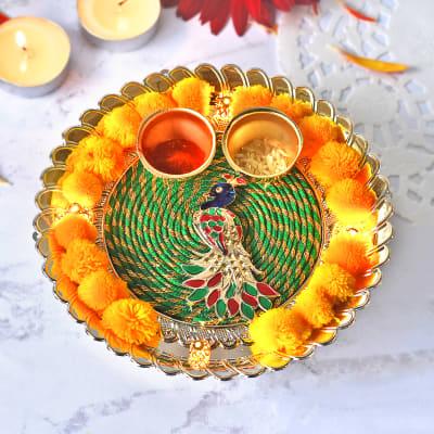 Decorative LED Puja Thali