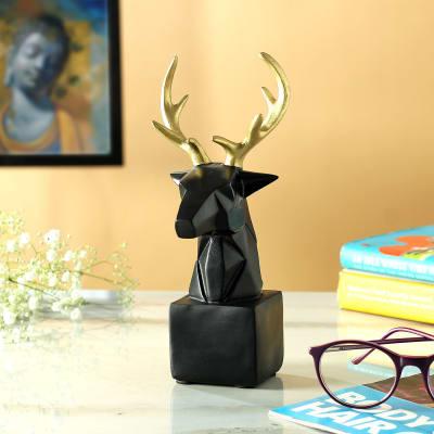 Deer with Golden Antlers Home Decor
