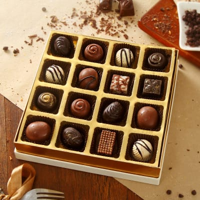 Delicious Box of 16pc Assorted Homemade Chocolates Gift