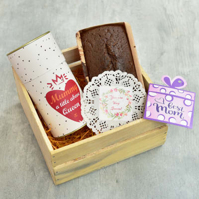 Delicious Chocolate Cake Bar with Date & Walnut Cookies Hamper for Mother
