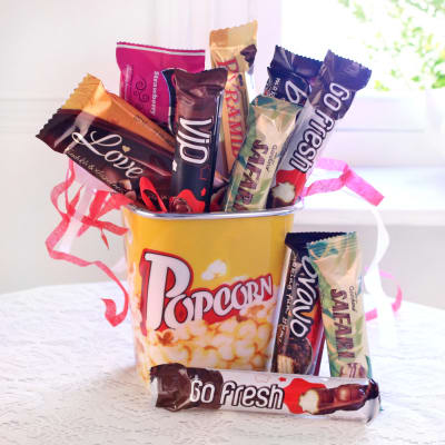 Birthday gifts for girlfriend best birthday gift ideas for delicious imported chocolate hamper in bucket negle Images